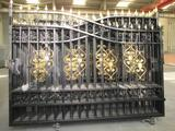 20' HEAVY DUTY BI-PARTING WRAUGHT IRON DRIVEWAY GATE