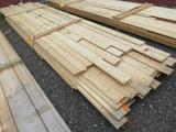 PALLET OF ASSORTED LENGTH & WIDTH PINE FLAT AND GROOVE BOARDS
