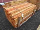 PALLET OF ASSORTED WIDTH 3/4'' X 6' CEDAR BOARDS