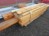 PALLET OF ASSORTED LENGHTS OF CEDAR 6'' X 6'', 4'' X 8'' & ASSORTED PINE 2 X 6 & 2 X 8