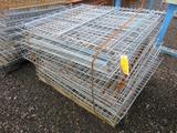 LOT OF APPROXIMATELY (18) SECTIONS OF WIRE DECKING FOR PALLET RACKING