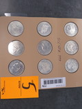 (9) ASSORTED ONE TROY OUNCE COINS