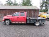 2003 DODGE RAM 3500 CREW CAB FLATBED *NON RUNNING, TOWED IN