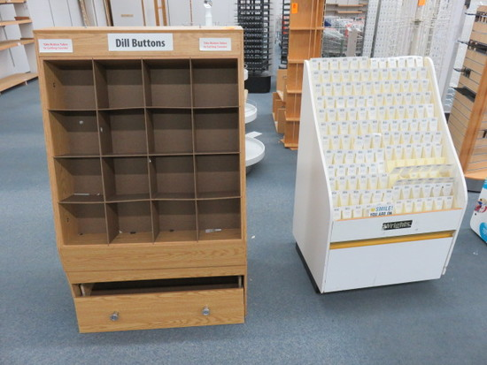 (2) WOOD STORAGE/DISPLAY CABINETS