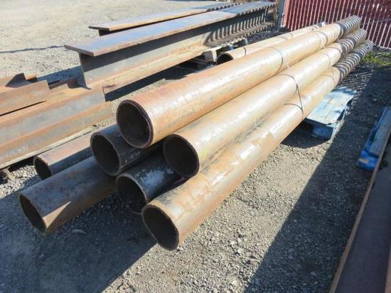 PALLET OF ASSORTED LENGTH 9'' PIPE (9 PIECES)
