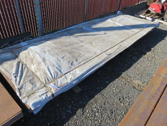PALLET W/ APPROXIMATELY (100) SHEETS OF 12' X 4' SHEET METAL
