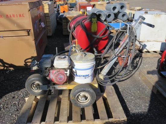GRACO LINE LAZER 3000 GAS POWERED PAINT STRIPER W/HONDA GX120 GAS ENGINE