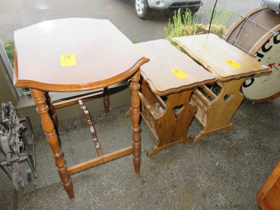 (2) END TABLES & 30'' X 20'' TABLE