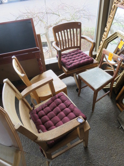 (4) ASSORTED CHAIRS