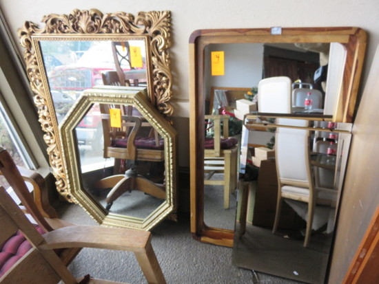 (5) ASSORTED SIZE WALL MIRRORS