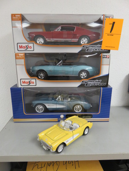 (4) DIECAST CARS