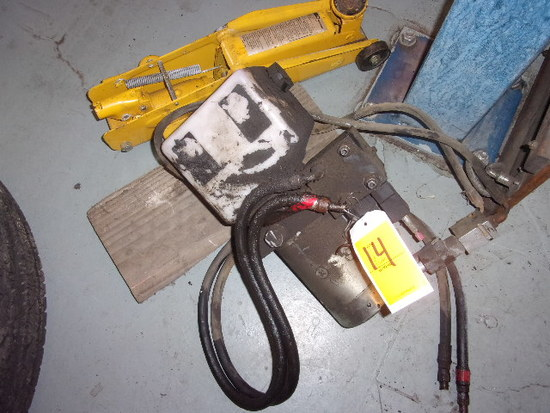 ELECTRIC DRIVEN HYDRAULIC MOTOR & WILMAR 2 TON FLOOR JACK