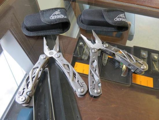 2 GERBER MULTI PLIER POCKET TOOLS