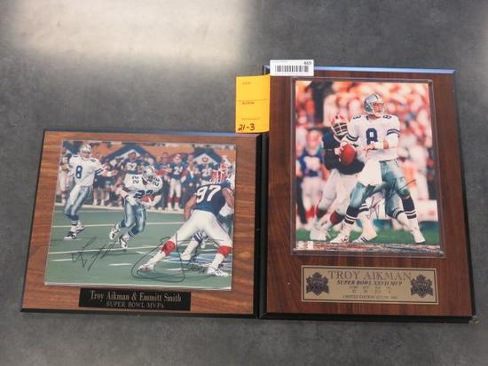 TROY AIKMAN SUPER BOWL XXVII MVP PHOTO & TROY AIKMAN & EMMITT SMITH MVP'S PHOTO
