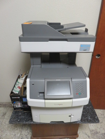 LEXMARK XS736DE COPIER W/TABLE