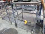 PORTABLE METAL FRAM BENCH/CART ONLY (NO CONTENTS)