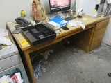 WOOD DESK ONLY (NO CONTENTS)
