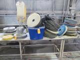 MASTERCRAFT QUARRY MASTER FLOOR RESURFACING MACHINE W/ASSORTED PADS