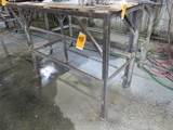 (2) METAL BENCH FRAMES ONLY (NO CONTENTS)