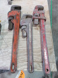 (3)ASSORTED PIPE WRENCHES