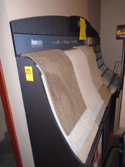 CARPET DISPLAY RACK