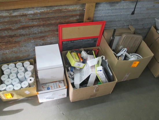 (4) BOXES OF ASSORTED OFFICE SUPPLIES