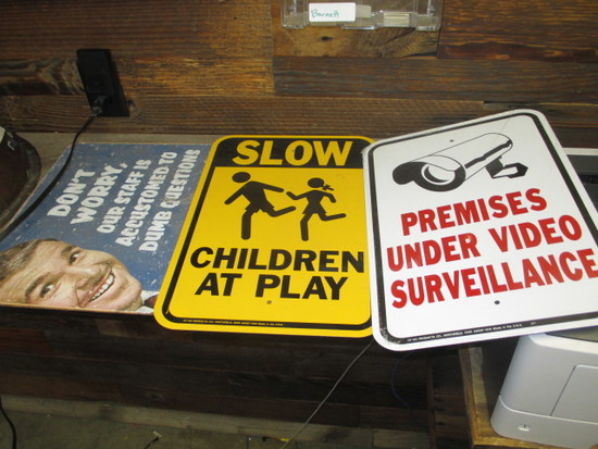(3) SIGNS
