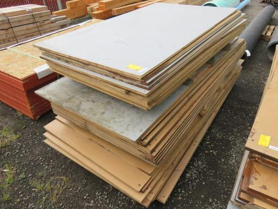 "(APPROX. 36) 48"" X 82"" TONGUE AND GROOVE MDF PLANKS"