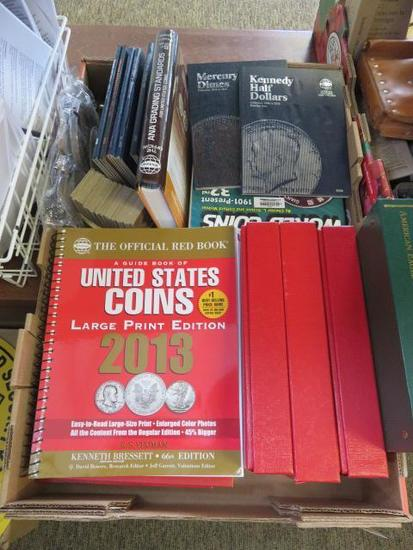 ASSORTED COIN BOOKS & EMPTY COIN ALBUMS