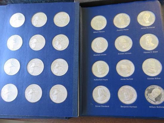 PRESIDENTIAL COIN BOOK - (36) 1 OUNCE COINS