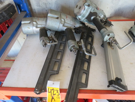 (3) HITACHI PNEUMATIC NAIL GUNS