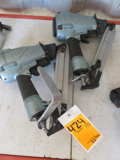 (2) HITACHI 1 1/2'' PNEUMATIC STRIP NAILER