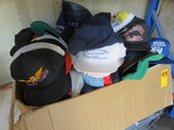 (1) BOX OF ASSORTED BUISNESS, FACTORY AND SPORTS HATS