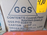 (1) BOX OF FLAME RETARDANT COVERALLS