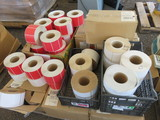 PALLET OF 4'' X 2 1/2'' & 6'' X 4'' COLORED ADHESIVE LABELS
