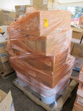 PALLET OF WHITE UTILITY WIPES, 2 PLY BATH TISSUE, TOWEL DISPENSERS