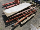 PALLET W/ROLLING SCAFFOLD, 6' TALL, PLANK IS 6' X 28''