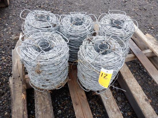 (5) ROLLS OF BARBED WIRE
