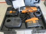 TRITON 18V PLUNGE DRILL IN CASE W/(2) BATTERIES, CHARGER & OTHER ACCESSORIES