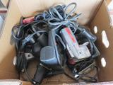 BOX OF CORDED DRILLS & JIG SAWS
