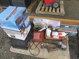 PALLET W/VINYARD CHERRY LAMINATE FLOORING, READY HOT INSTANT HOT WATER DISPENCER, BIO SHIELD