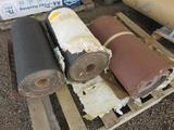 PALLET W/A ROLL OF HERMES 80 GRIT SANDPAPER, A ROLL OF 60 AND A ROLL OF 20 GRIT SANDPAPER