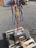 2 WHEEL BATTERY JUMPER DOLLY W/JUMPER CABLES & BATTERY