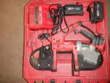 MILWAUKEE M18 BANDSAW W/(2) BATTERIES & CHARGER IN CASE
