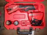 MILWAUKEE M12 COPPER TUBING CUTTER W/(2) BATTERIES & CHARGER IN CASE