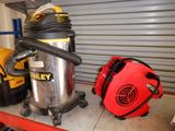 STANLEY 2.8 HP WET/DRY SHOP VAC, AND PERFORMANCE TOOLS VARIABLE SPEED BLOWER/ FAN