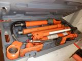 CENTRAL HYDRAULICS-10 TON PORTABLE PULLER W/ATTACHMENTS IN CASE