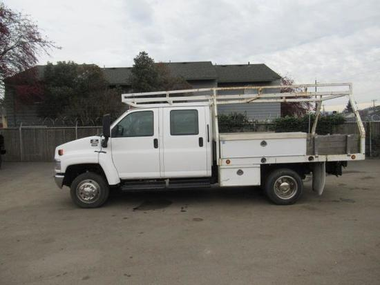 2004 CHEVROLET C4500 FLATBED UTILITY SERVICE TRUCK