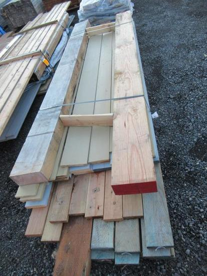 LOT OF ASSORTED LENGTH AND WIDTH LUMBER