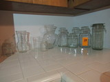 LOT OF GLASS JARS & VASES